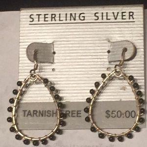 Jewelry - teardrop sterling silver earrings